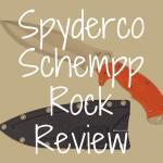 Spyderco Schempp Rock review